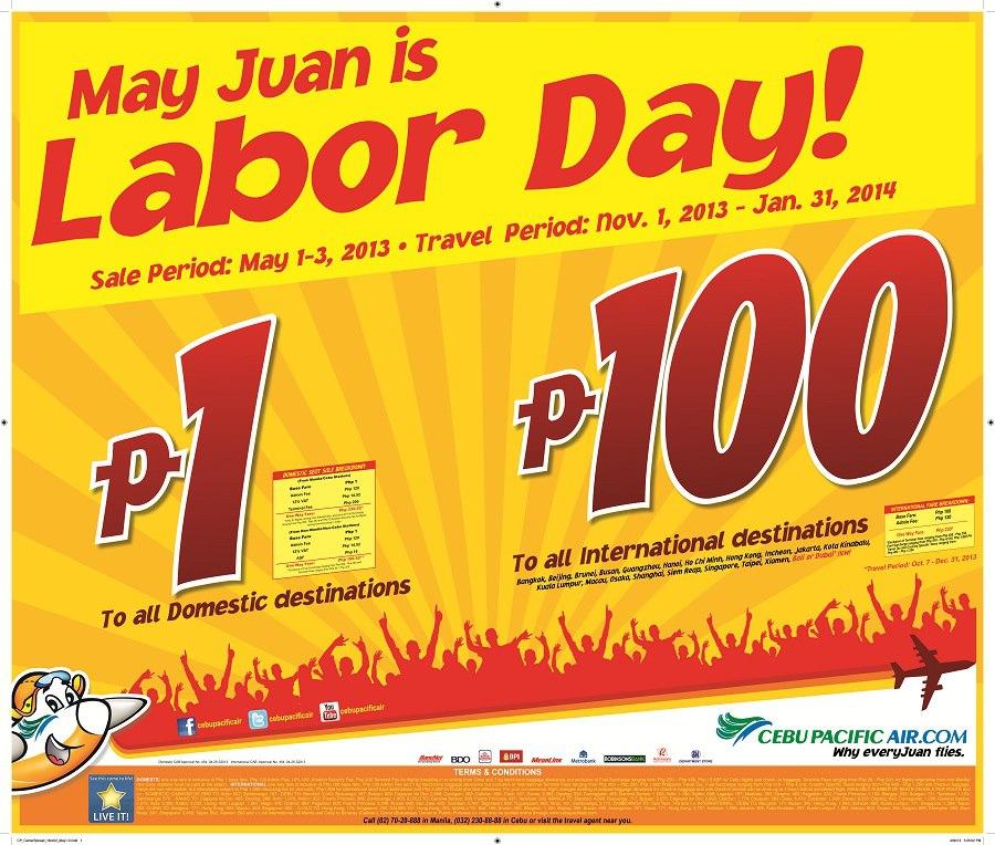 Cebu Pacific Piso Fare for Domestic destinations