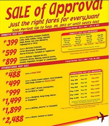 Cebu Pacific Promo 2013