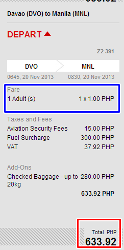 Piso Fare Ticket