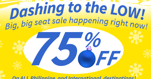 75% Off on Cebu Pacific Promo Fare Tickets 2014: January, February