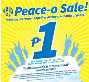 Cebu Pacific PISO FARE 2015 from January, February and March!!!