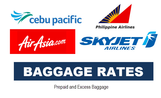 Cebu Pacific Air Asia Baggage Rates