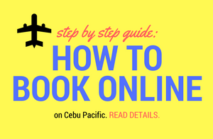 Cebu Pacific How to Book Online