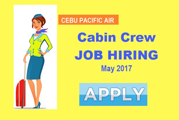 cabin crew hiring 2017 cebu pacific air