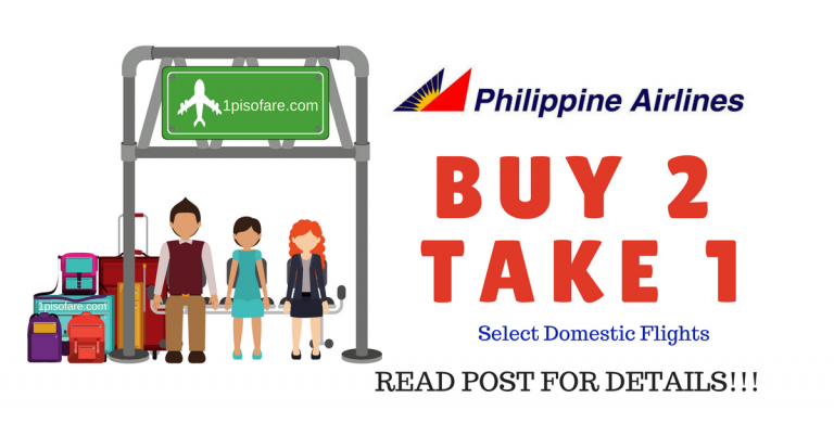 Philippine Airlines promo BUY 2 TAKE 1