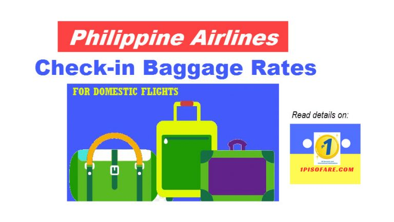 philippine airlines check-in baggage rate