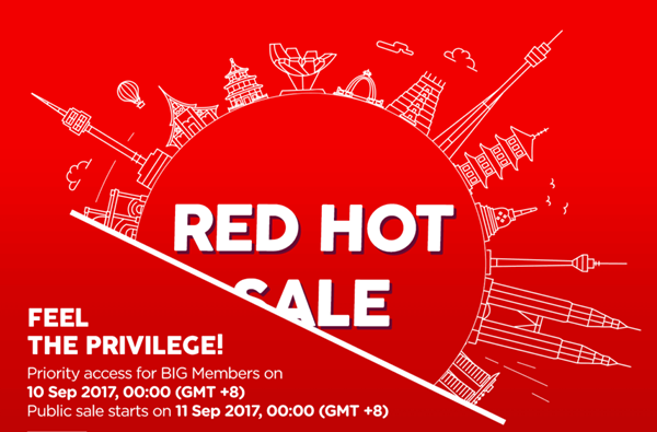 Red Hot Sale Air Asia 2018