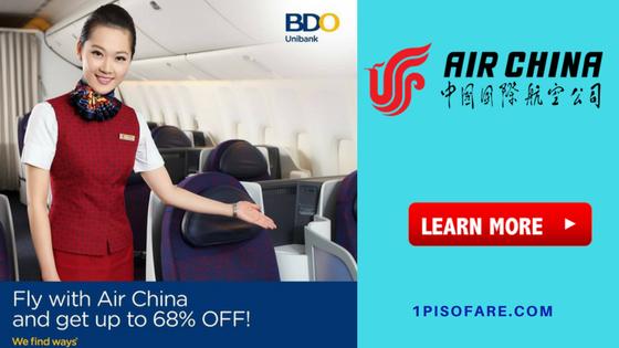 Air China promos with BDO