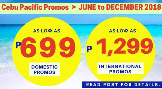 cebu pacific promo june, july, august, september, october, november, december 2018