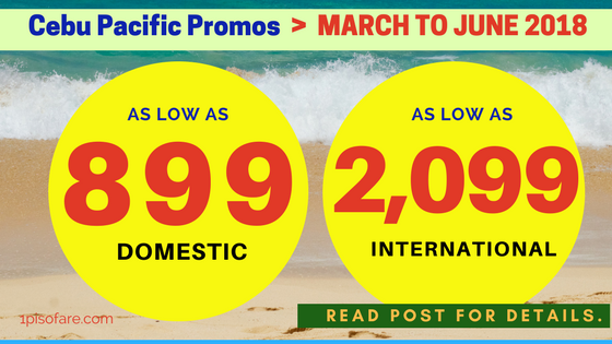 cebu pacific promo travel period march to december 2018