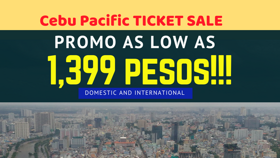 cebu pacific ticket sale 2018 to 2019