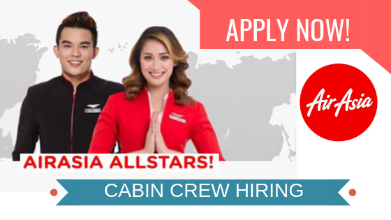 cabin crew hiring in air asia 2018