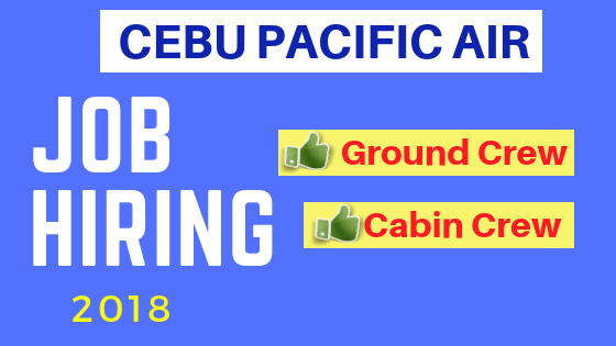 cebu pacific JOB HIRING 2018