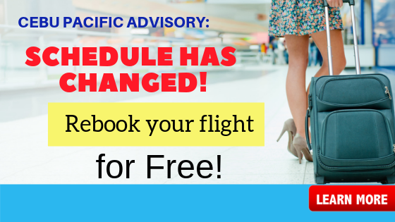 rebook ticket cebu pacific flight advisory schedule changed