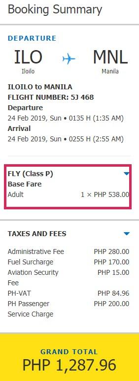 Iloilo to Manila promo february 2019