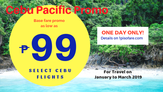 cebu pacific promo 99 base fare