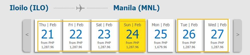 Iloilo to Manila
