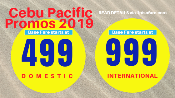 Cebu Pacific Promo January 3 2019
