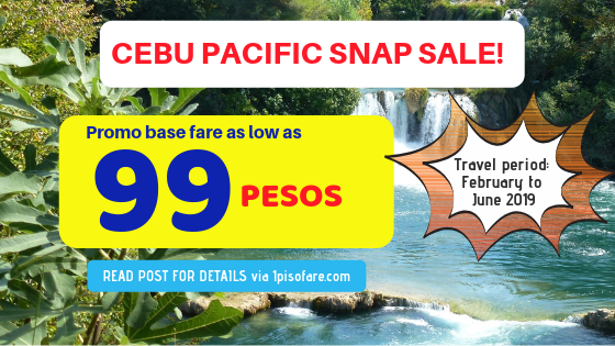 Cebu Pacific snap sale 2019 feb to June
