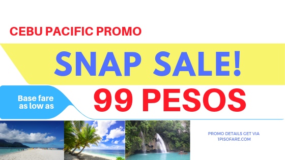 SNAP SALE cebu pacific promo fare 2019