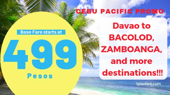 davao promo fares Cebu Pacific