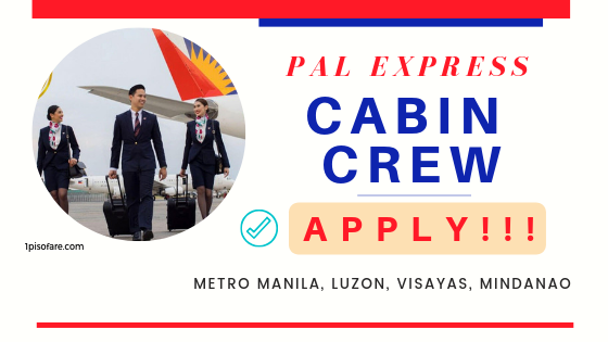 pal express cabin crew openings 2019