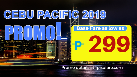 Cebu Pacific Air Piso Fare 2019