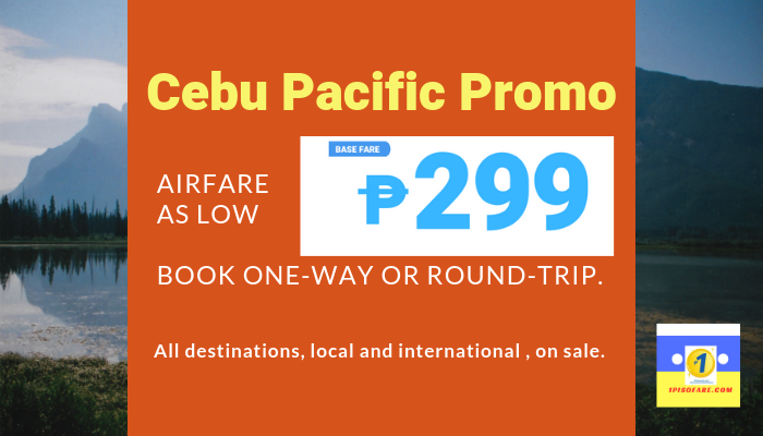 Cebu Pacific Promo 299 in 2019