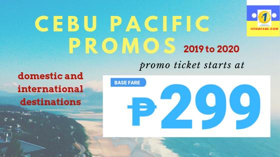 Cebu Pacific promo booking starts May 30 2019