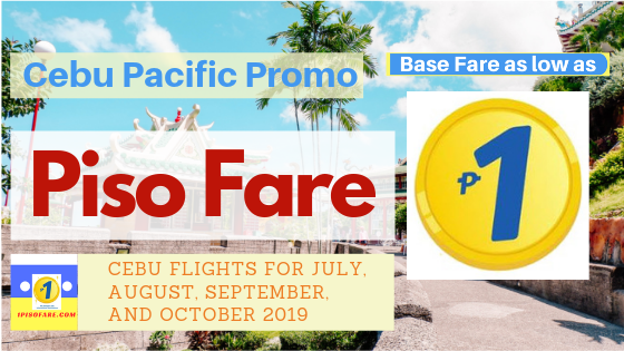 Cebu Pacific piso fare cebu flights