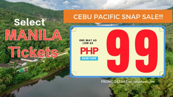 cebu pacific manila promo 99 pesos